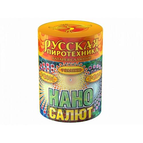 """РС601 батарея салютов НАНО-САЛЮТ   (0,8""""х7) *1/24 (шт)"""