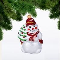 Снеговик с елкой, фигурка (С1777)