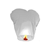 Небесные фонарики Сердце  белое