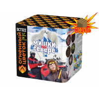 "ОС7322 батарея салютов МИШКИ НА СЕВЕРЕ (1,1""х25) *1/8 (шт)"